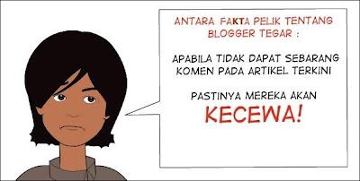 Blogger Tegar - Tentu Kecewa Bila Artikel Terkini Tidak Mendapat Respon!