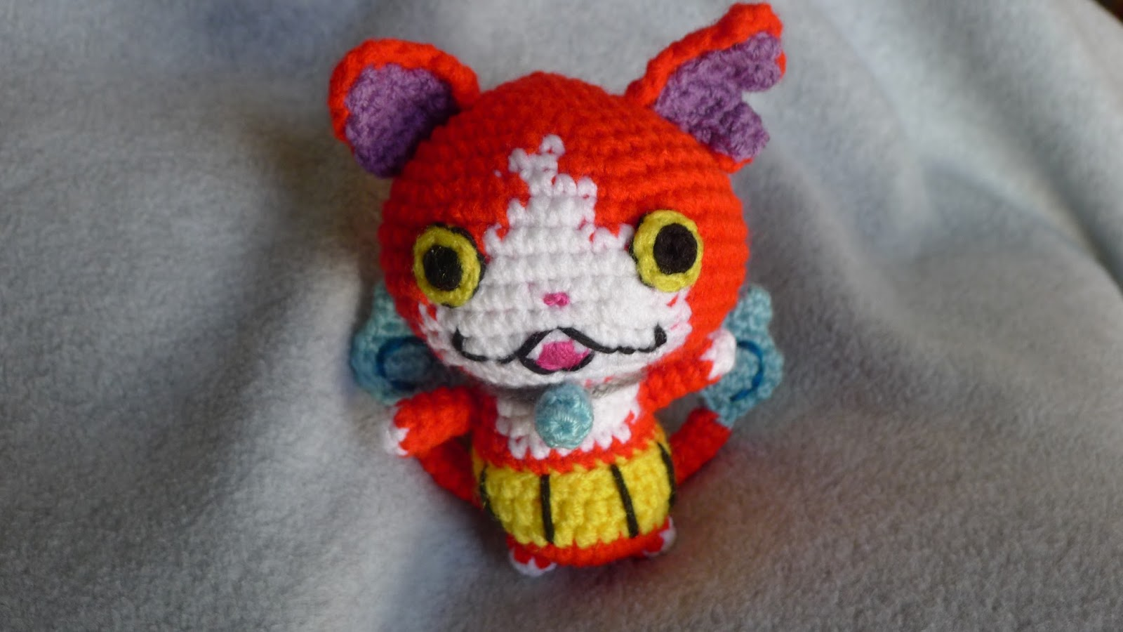 Crocheting Yo : ... mnopxs2.blogspot.com/2016/01/crochet-jibanyan-from-yo-kai-watch.html