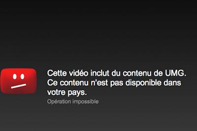 Impossible de lire une video sur youtube bloquer dans notre pays