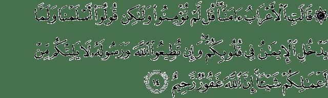 Surat Al-Hujurat ayat 14