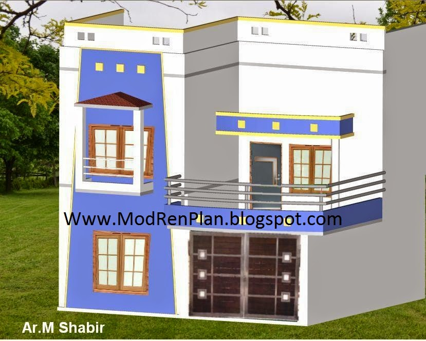 House Front Elevation With Gate : Marla house design front elevation