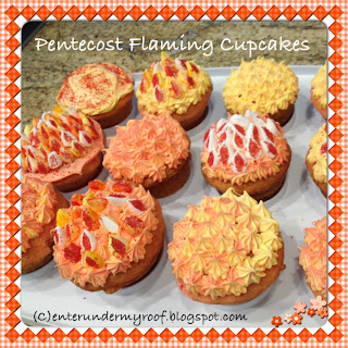 pentecost flaming cupcakes family kids activity recipe