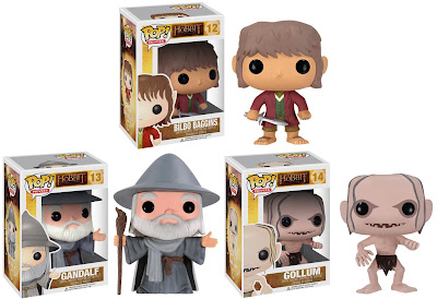 The Hobbit Pop! Movies Series by Funko - Bilbo Baggins, Gandalf & Gollum Vinyl Figures