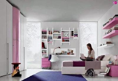desain kamar tidur sederhana perempuan