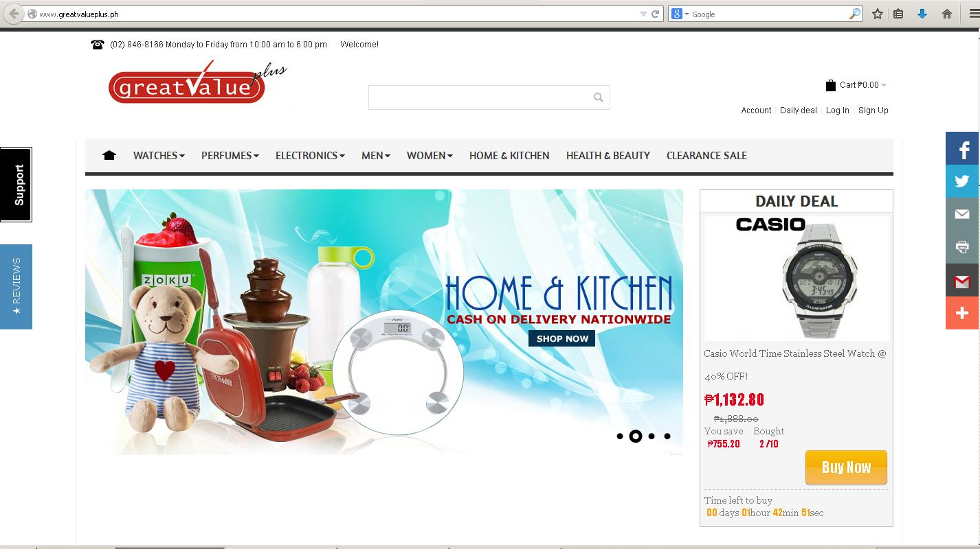 a photo of www.GreatValuePlus.ph Online Shopping