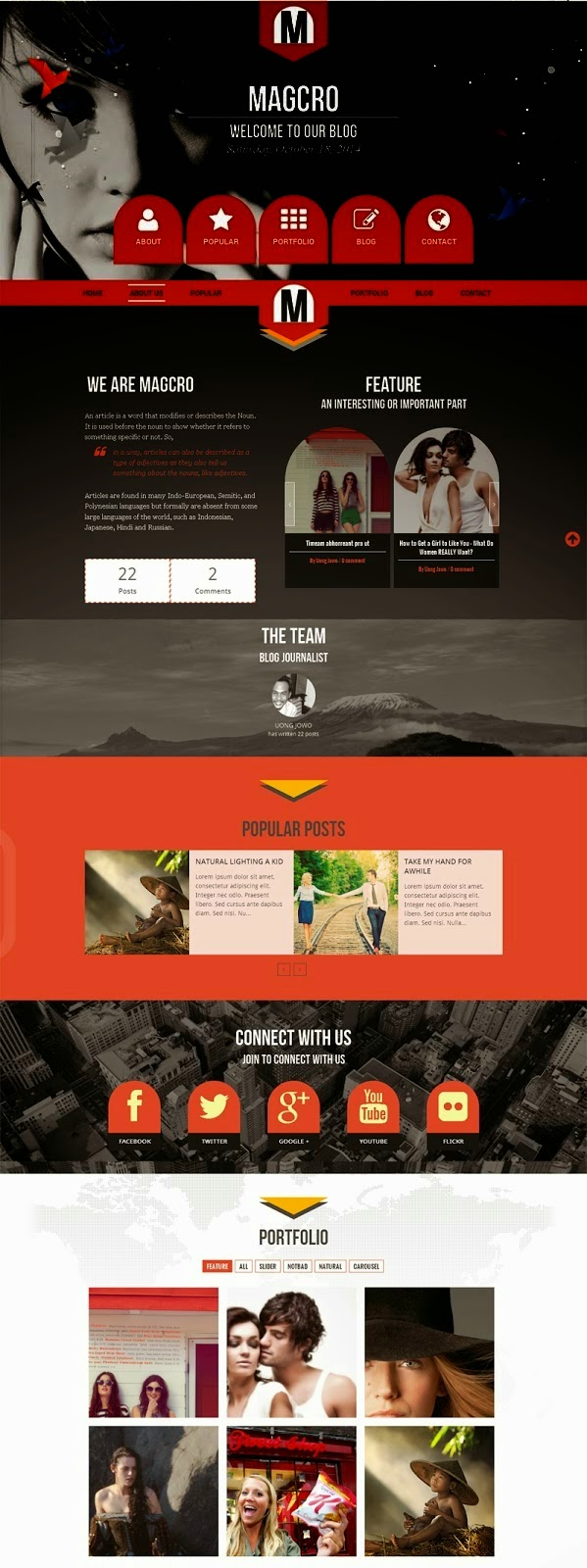 Magcro Parallax Responsive Blogger Template - Its Technoholic