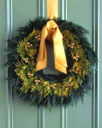 Evergreen Fir Christmas Wreath from FrySauceandGrits.com