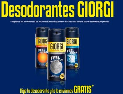 Desodorante GIORGI gratis