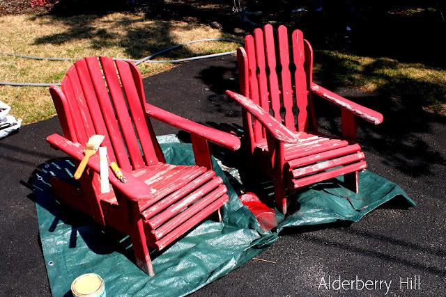 Refreshed Adirondack Chairs