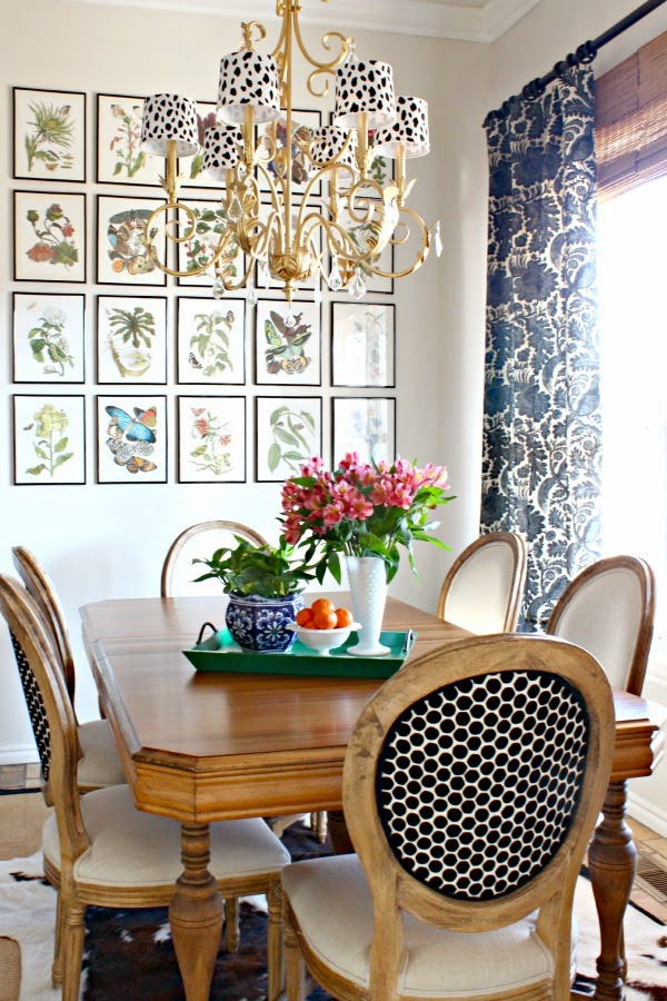 Diy spotted chandelier shades dimples and tangles could see bigger lampshades pillows table runners frames just about anything decked out in this cute pattern you can find amandas tutorial here mozeypictures Images