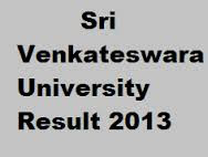 SV University Results 2013 | BA BSC BCom 1st 2nd 3rd year - www.svuniversity.in