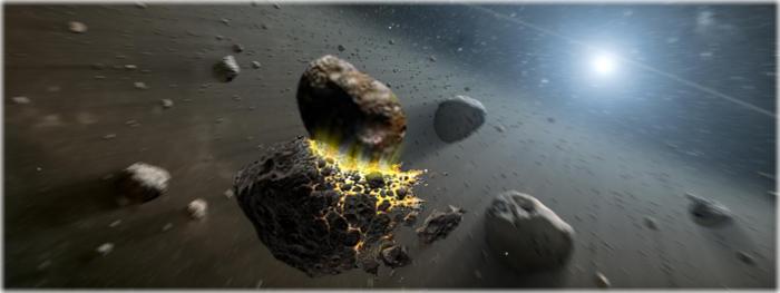 impacto do asteroides Griseldis no Cinturão de Asteroides