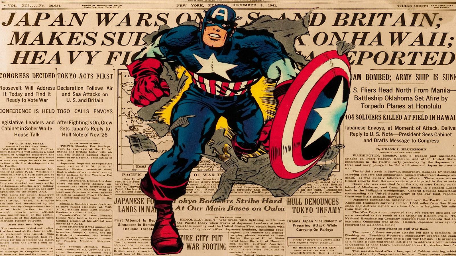 Popular Wallpaper Marvel Vintage - Captain+America+Wallpaper  Trends_43596.jpg