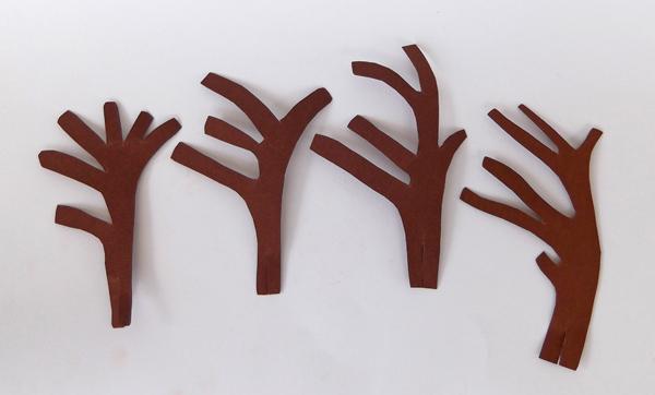 δέντρο από χαρτόνι