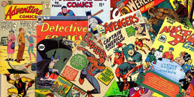 image of a stack of comic books