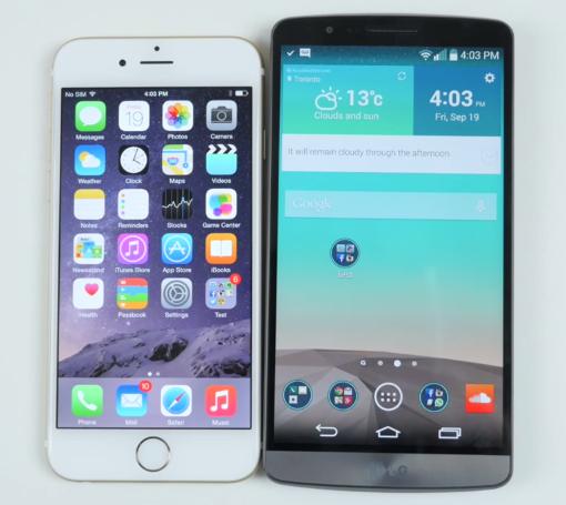 Perbandingan Smartphone Apple Iphone 6 VS LG G3 pada harga di indonesia