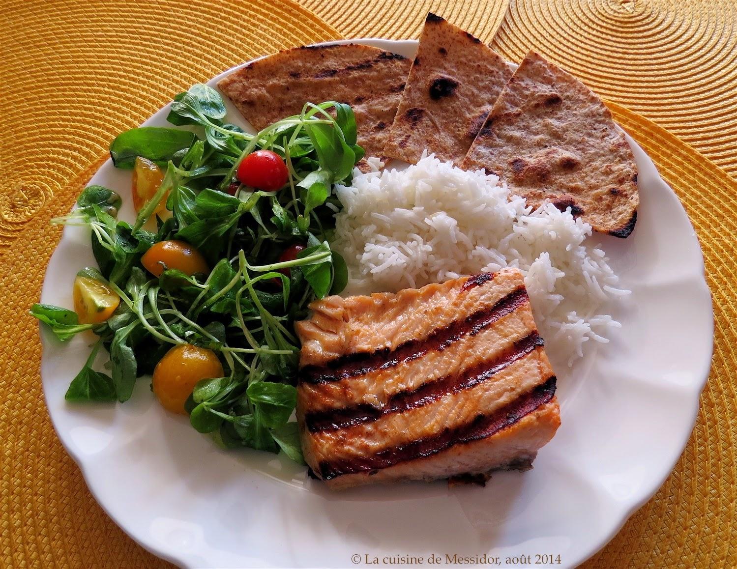 La cuisine de messidor pav s de saumon grill s la - Comment cuisiner des paves de saumon ...