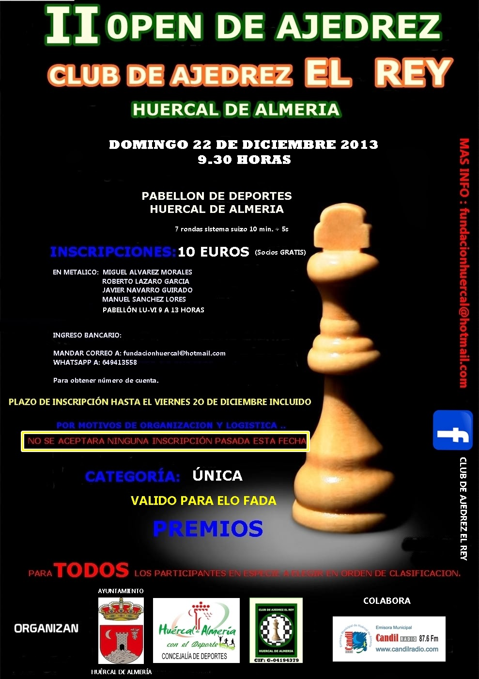 OPEN DE NAVIDAD DE HUERCAL DE ALMERIA
