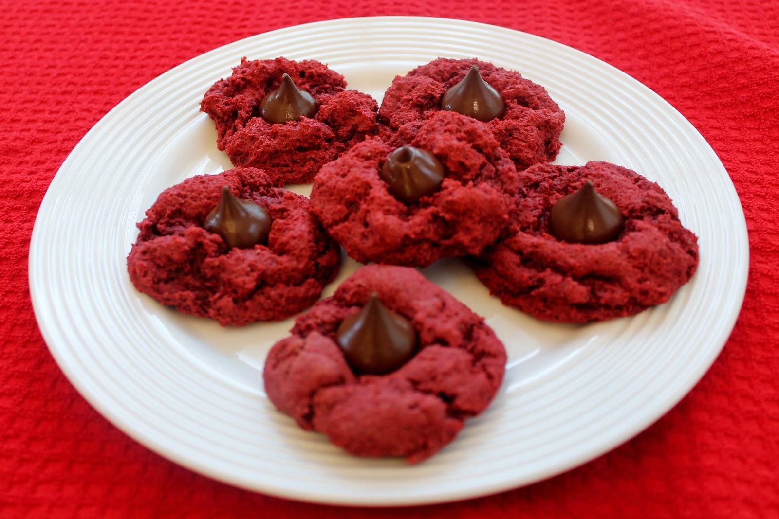 Key Ingredients: Red Velvet Hershey Kiss Cookies