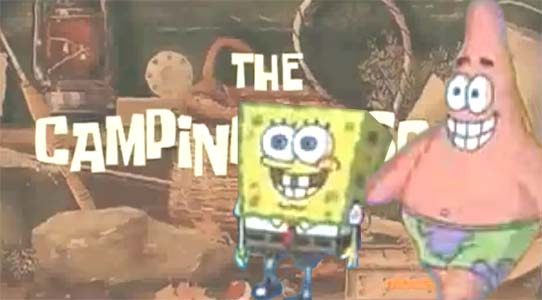 film review, resensi film, spongbob squarepant, the camping episode, image