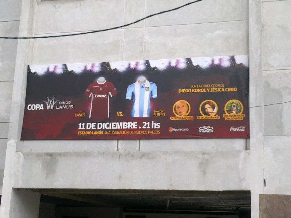 CDI: BASTIDORES CON TELA FRONT CANCHA LANUS