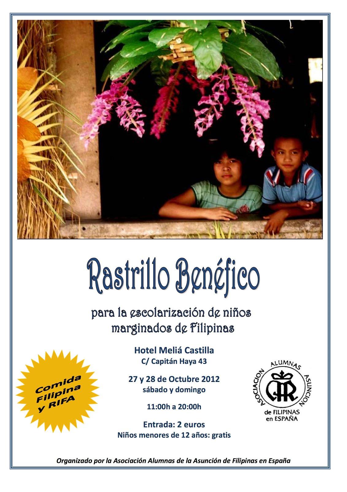 Rastrillo Benéfico para la escolarización de niños marginados en Filipinas