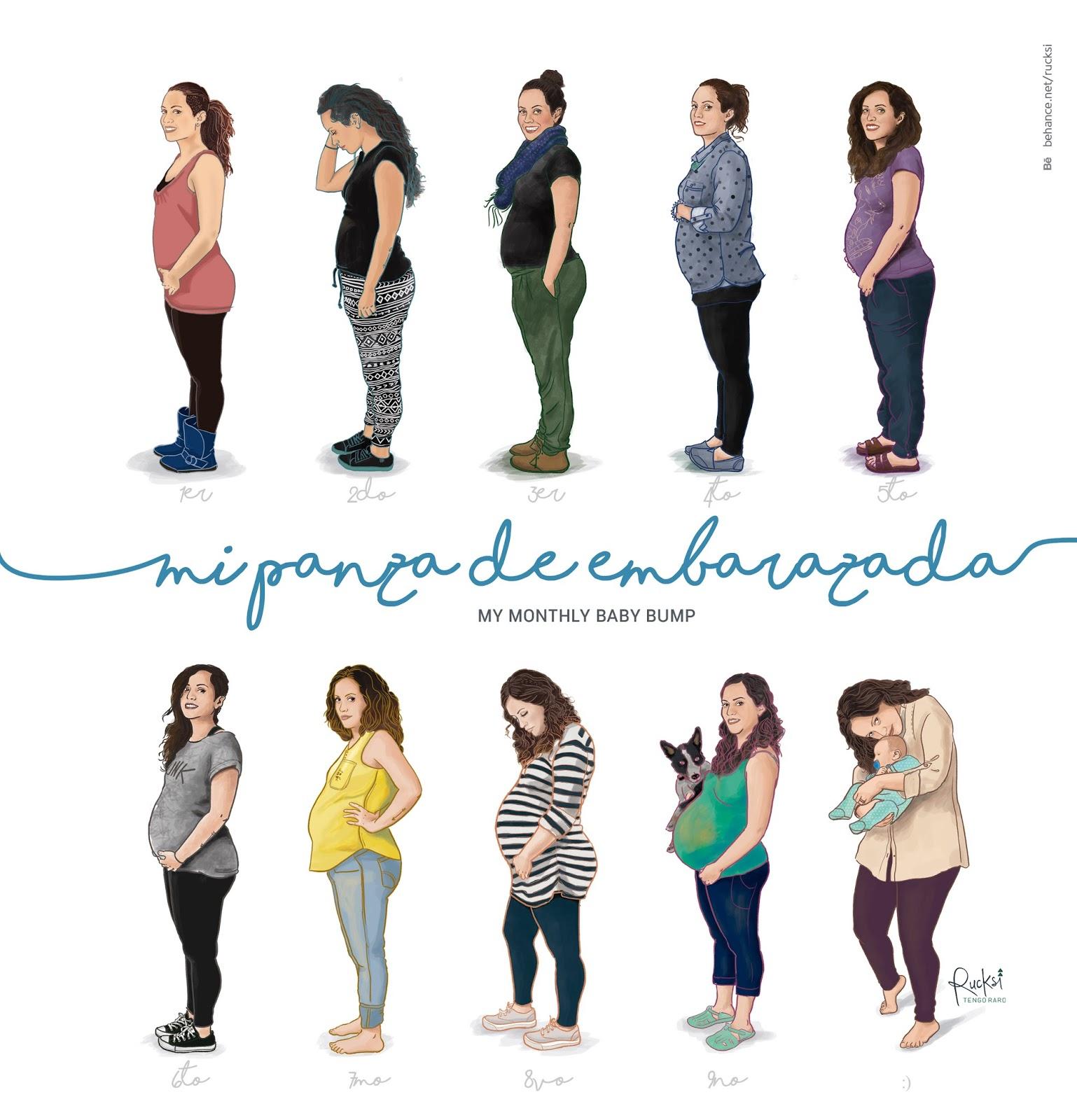 Rucksi tengoraro mi panza de embarazada - De cuantos meses estoy ...