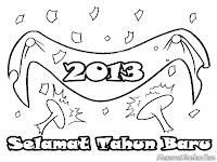Mewarnai Ucapan Tahun Baru 2013