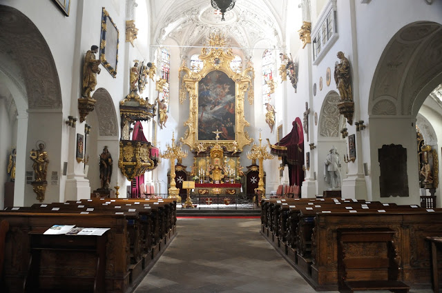 Interior of the Church of St Mary under the Chain