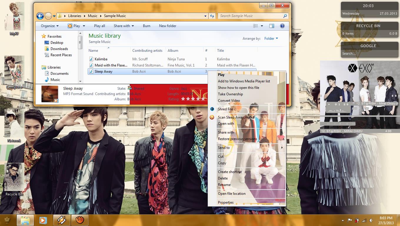 My Kpop Fanatik Teen Top No 1 Windows 7 Theme