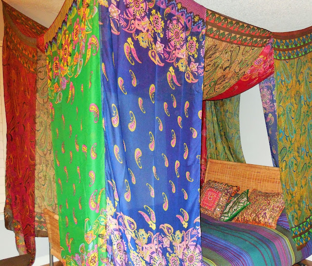 bohemian bed canopy