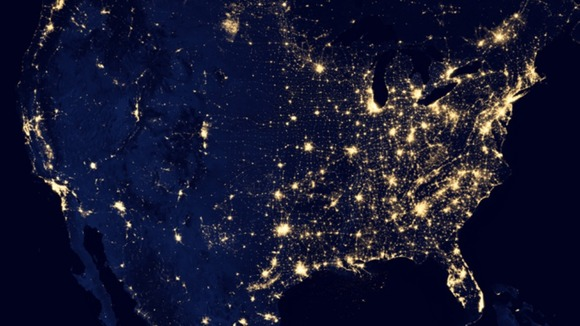 Night view of Earth from Satellite