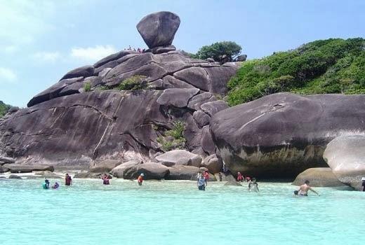 Similan Island beach in Thailand