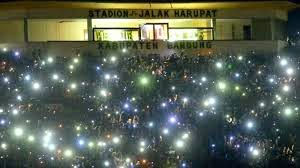 Aksi Bobotoh Persib Bandung