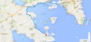 Theseus' Route from Troezen to Athens