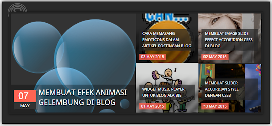 Responsive  Recent Post Slider Widget For Blogger