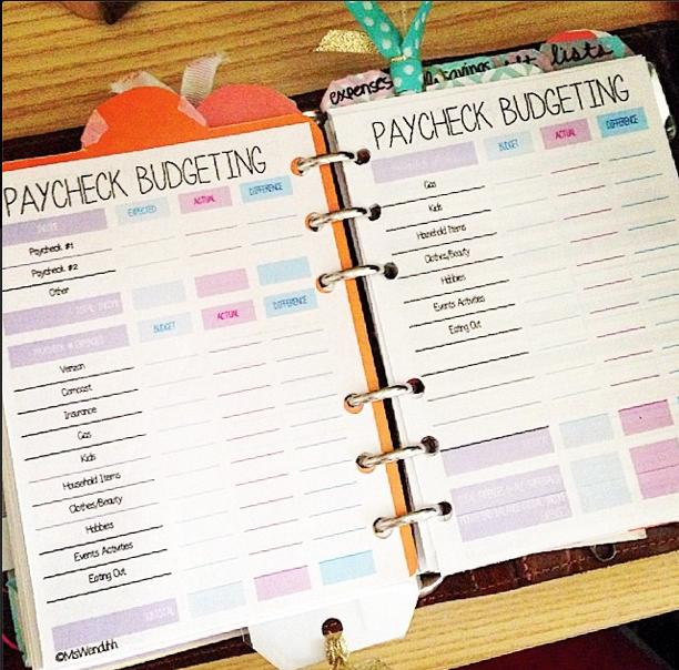 Paycheck Budgeting Printable Mswenduhh Bloglovin