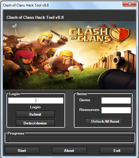 clash of clans hack tool download no root