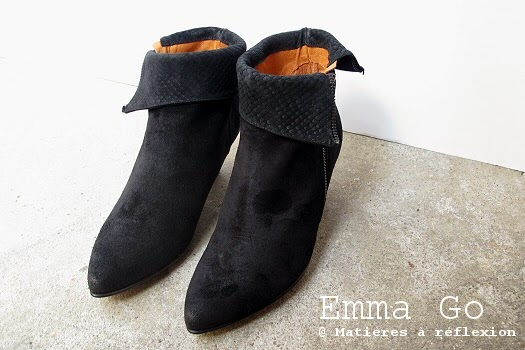 Bottines Emma Go daim et serpent