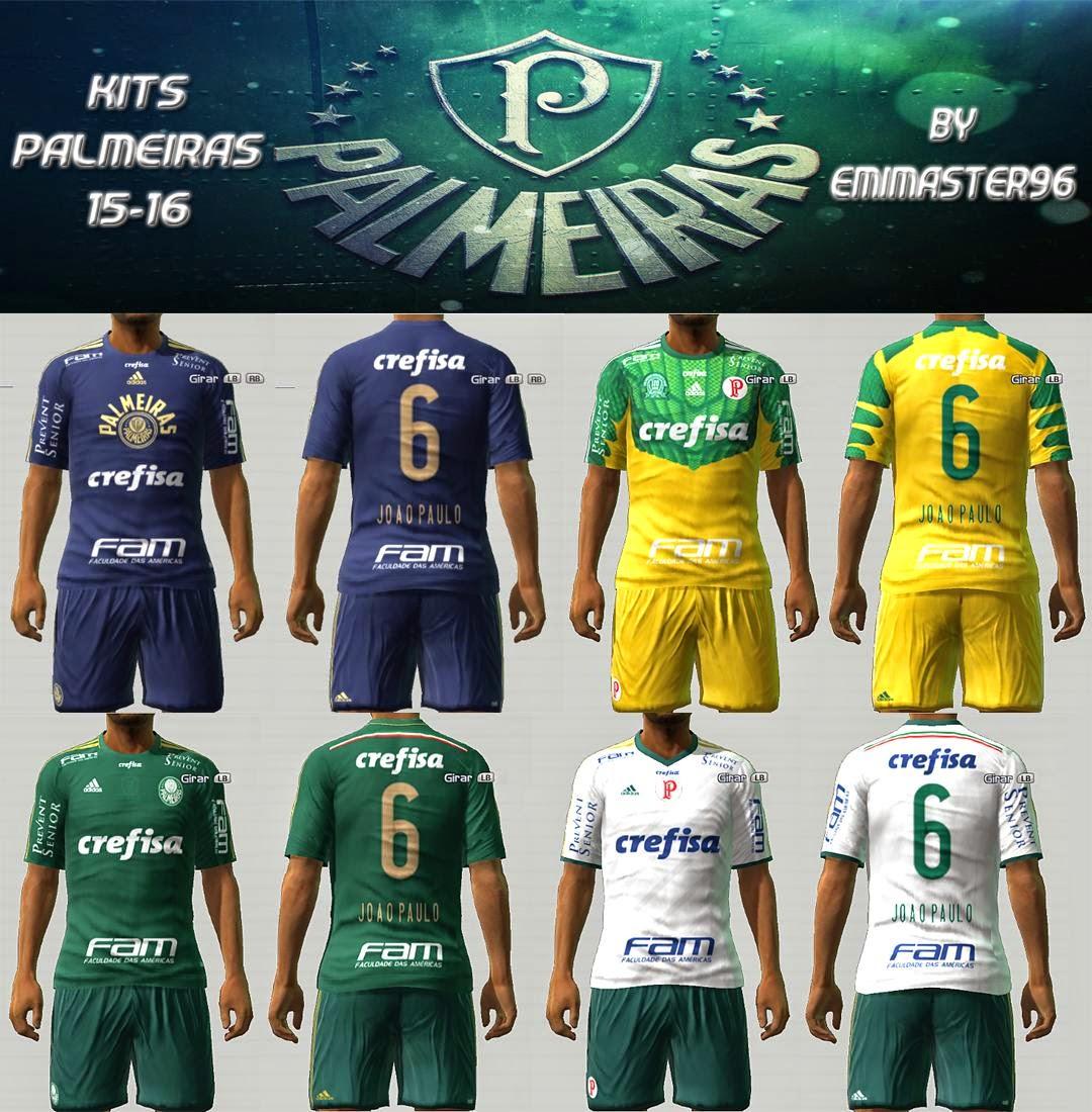 PES 2013 Palmeiras 2015-2016 Kits by emimaster96