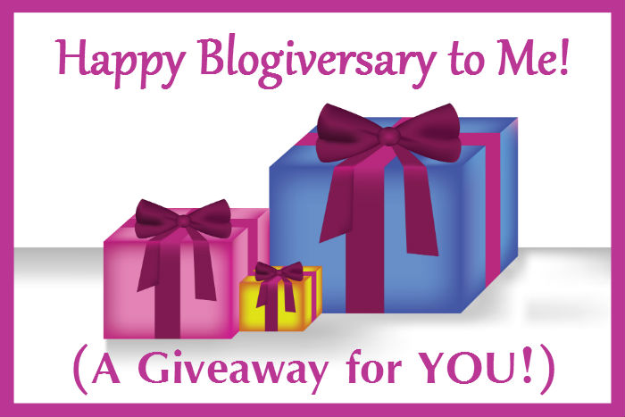 I'm celebrating my 6th blogiversary with a giveaway! Check out this great prize pack and enter for your chance to win!