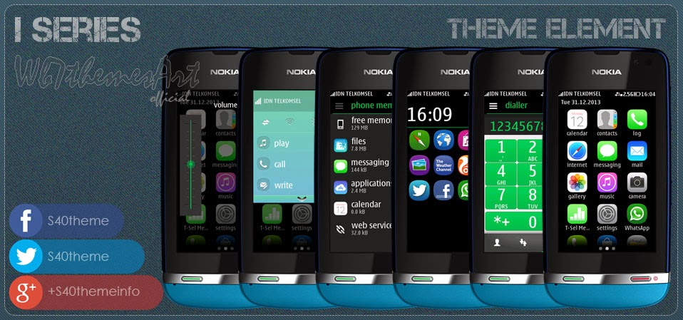 iphone 5 series theme free for Asha 311, Asha 310, Asha 309, Asha 308, Asha 306, Asha 305