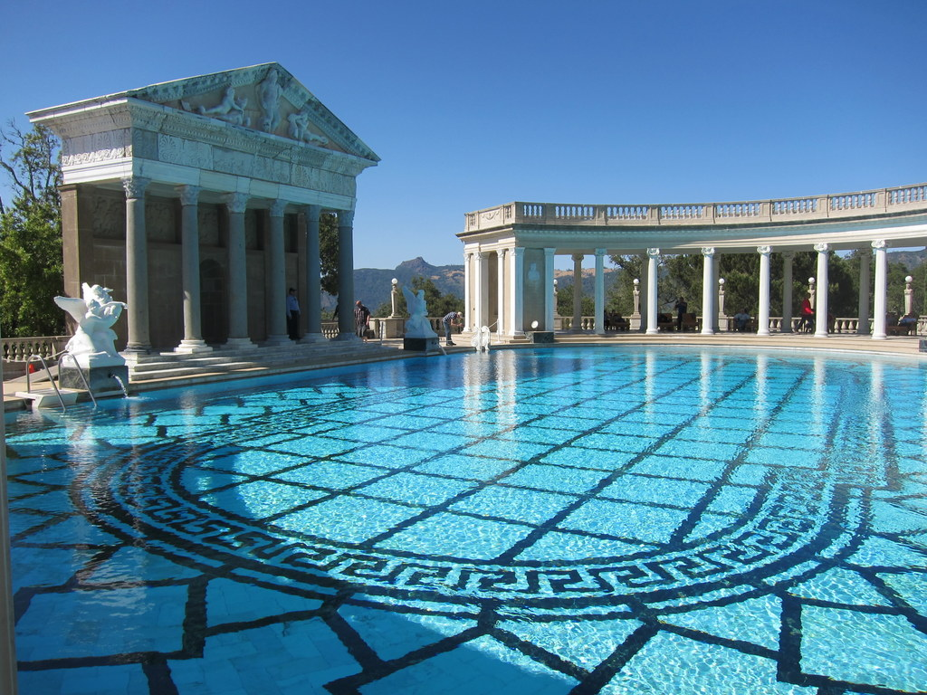 Worlds within the gardens and pools of hearst castle for Castle gardens pool