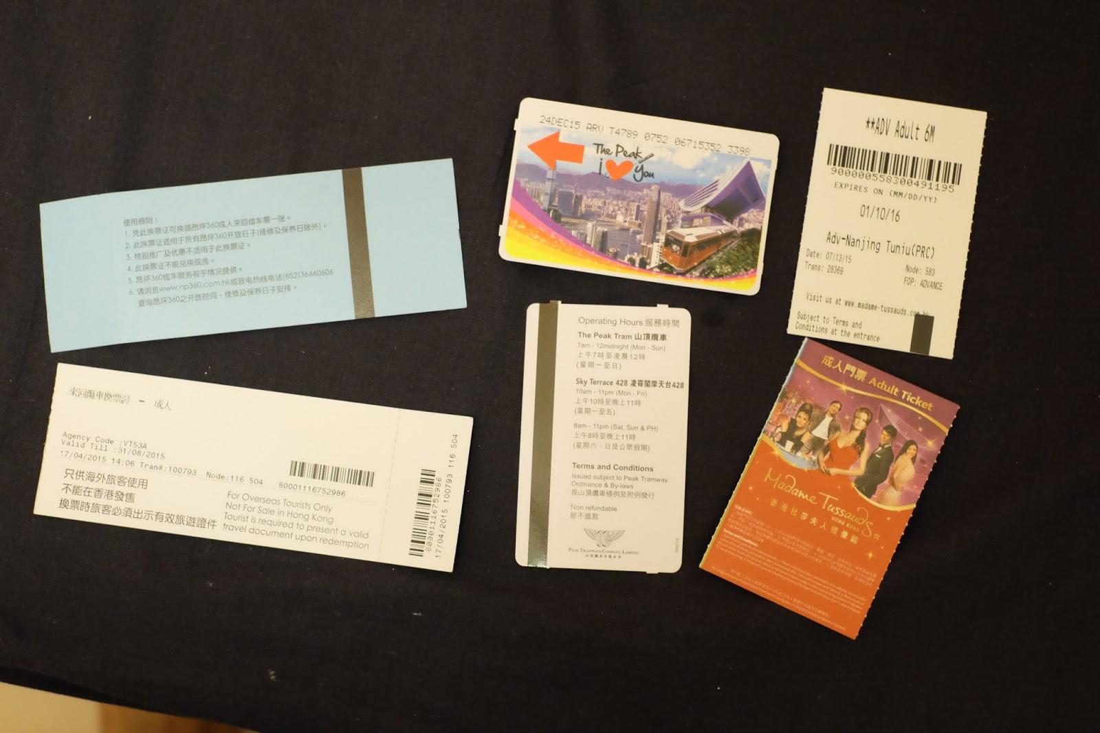 Biaya Liburan 5 Hari di Hong Kong dan Singapura-6 tiket madame tussauds the peak ngong ping 360 cable car golden crown