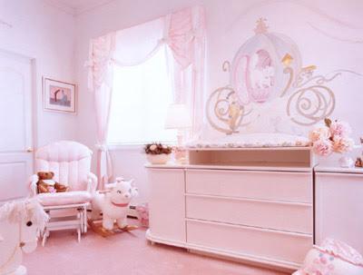 dormitorio para bebé rosa
