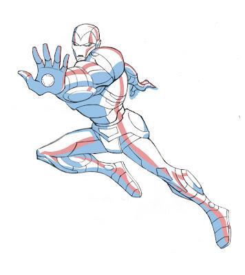 Iron Man para colorear ~ 4 Dibujo