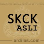 Contoh Bentuk Suatu SKCK (Gambar / Foto Scan)