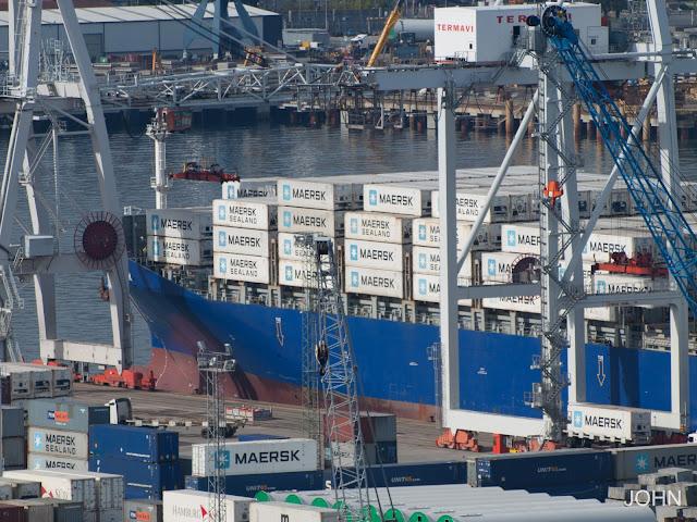 maersk dampier, container ship, vigo, ships photos, fotos de barcos