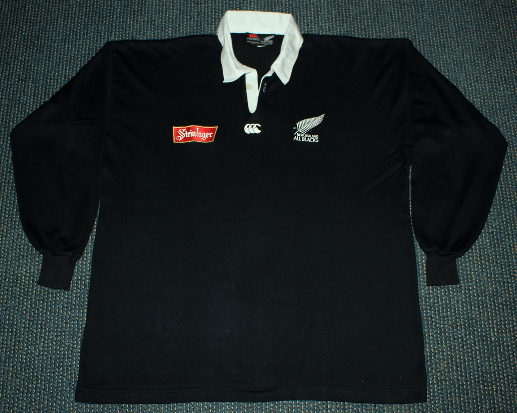All black t shirt new zealand - New Zealand All Blacks 1994 1996 Home Ls Rugby Jersey