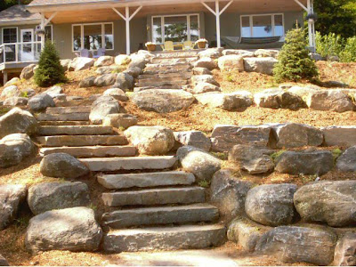 OUTDOOR STAIRS DESIGN FOR YOUR BACKYARD - BACKYARD and PATIOS